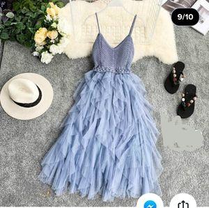 Women's Lolita mesh slip dress